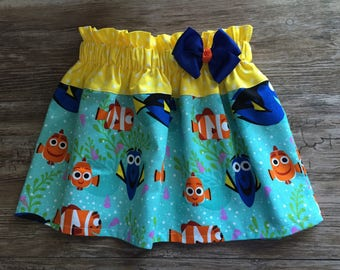 Skirt With Dory, Finding Dory Skirt, Dory and Nemo Skirt, Finding Dory Under The Sea Skirt,