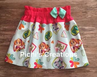 Paw Patrol Skirt, Skirt With Paw Patrol, Paw Patrol