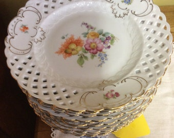 Antique Bloch and Co., China Eichwald plates