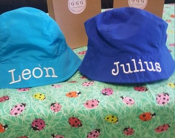 Monogram, personalized Infant sun hat , monogram included, personalized with name, protect from sun UPF 50!  6-19 months age.