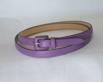 NEW COLLECTION-vintage classic ladies genuine leather Belt with buckle. Height 2 cm. Various colors. Handmade product.