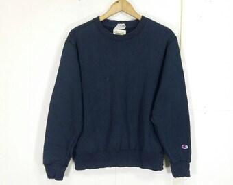 CHAMPION Sweatshirt Black Medium Vintage 90s Champion Authentic Athletic Apparel Usa Activewear Crewneck Jumper Sweater Size M