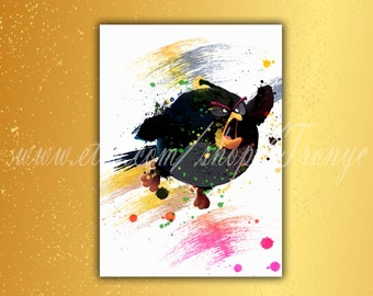 Angry Birds Matilda Poster Watercolor White