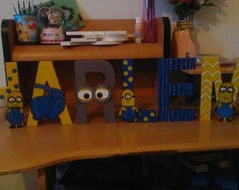 Minions painted letters