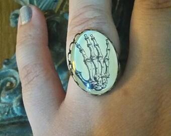 """Ring color bronze vintage """"main skeleton"""""""