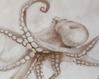 Octopi I postcard fine art print