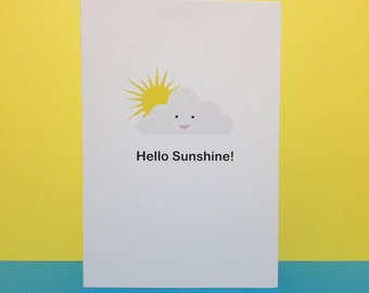 Friendship card - Hello Sunshine / Just because card / Blank card / Support card