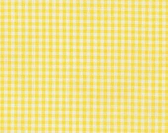 """Yellow Gingham, 1/8"""" yellow and white checked fabric, Robert Kaufman Fabric, 100% cotton fabric"""