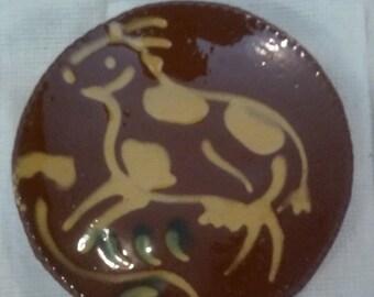 Vintage pottery trinket tray