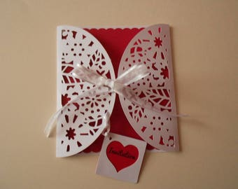 Invitation card * effect lace * wedding, baptism, Communion, birthday