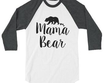 Mama Bear Shirt - mama bear raglan shirt, mama bear long sleeve shirt,  mama bear cute shirt, mama bear sweatshirt