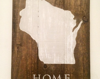 Wisconsin, Home Wall Hanging