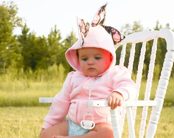 Cute Baby Girl Dinosaur Baby Shower Hoodie - Cute Girl Baby Shower Gift, Pink Dino Hoodie, Baby Girl Dinosaur Costume, Pink Dinosaur Gift