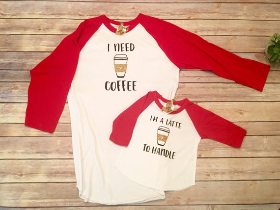 Mommy And Me Outfits Mommy And Me Shirts Coffee Shirt Set