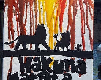 The Lion King crayon art