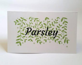 Herbs, flower, plant theme - Wedding table names