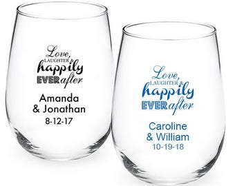 24 pcs Love Laughter & Happily Ever After 9 Oz Stemlesss Favors (JM218773-JN9OZLV