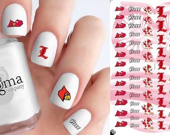 Louisville Cardinals Nail Decals (Set of 53)
