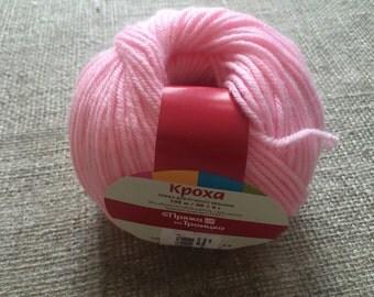 "Merino Wool & Acrilic ""Baby yarn"", Set of 4 skeins"