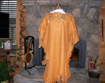 Deerskin Dress with Beads and Bone ornaments