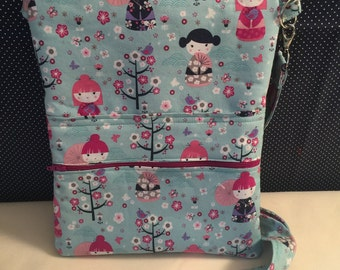 Kawaii Girl Dolls Cross Body Sling Messenger Bag