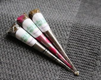 3 Lavender Henna Cones