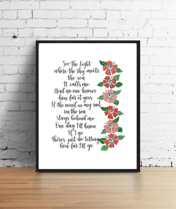 Mona Disney Princess Song Lyrics Printable