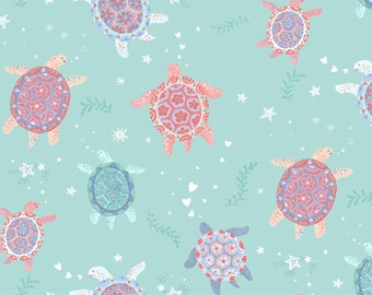 Sea Turtle Cotton Fabric