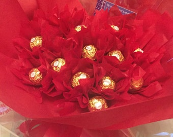 Ferrero Rocher Chocolate Bouquet ...ideal for Birthdays, Leaving gifts, thanks