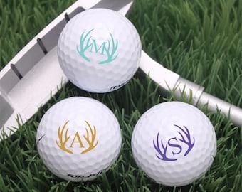 18 pcs Antler Monogram Personalized Golf Balls - JM474232