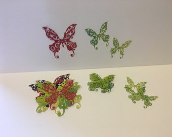 Set 8 Die cut butterfly (20 each)
