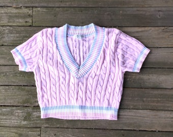 Cropped medium pink sweater