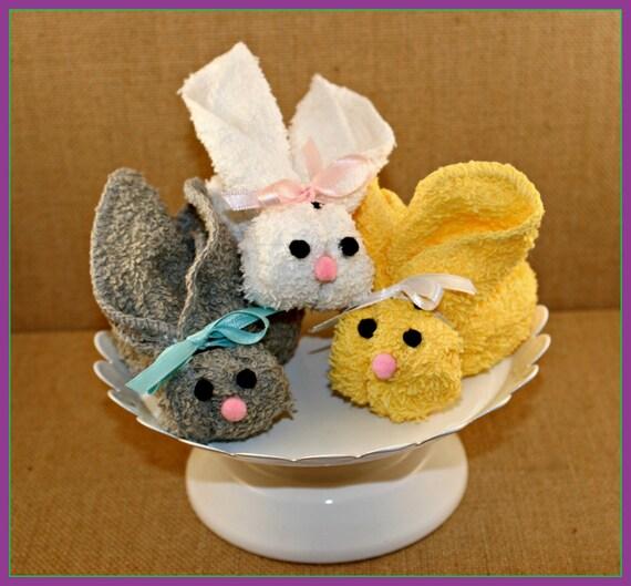 Washcloth Bunnies: Boo Boo Bunny Washcloth Bunny