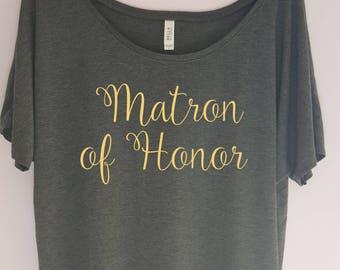 Matron of Honor Shirt, Bachelorette Party Shirt, Bridal Shirt, Bride Shirt, Bridal Party Shirt, Bridesmaid Shirt, Team Bride, Bridal Shirts