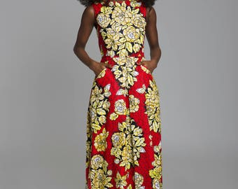 Sika'a red maxi dress
