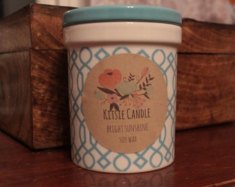 Bright Sunshine-Soy Wax candle by Kitsie Candle