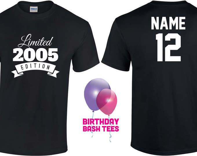 12 Year Old Birthday Shirt Or Hoodie 2005 Kids Limited Edition 12th