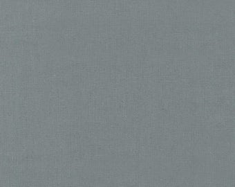 Essex Linen in Graphite from Robert Kaufman quilting apparel grey gray fabric material by the yard or metre E014-295