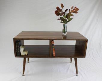 Mid Century Modern Media Console/ Bookshelf (FREE SHIPPING)
