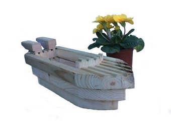 SPEEDBOAT Planter Wooden Boat