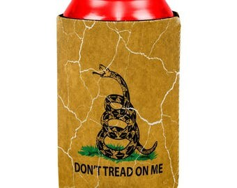 Distressed Gadsden Flag All Over Can Cooler