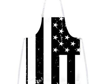 B American Flag All Over Apron