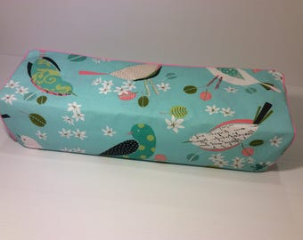 Cricut Explore/ Air/ Air2/ One Custom Handmade Dust Cover Teal and Pink Birds with Light Pink Piping
