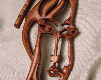 Bagpipe, Wooden bagpipe, Wood carving bagpipe, Carving wall bagpipe, Mask bagpipe,  Handmade bagpipe, Bulgarian bagpipe, Art bagpipe,