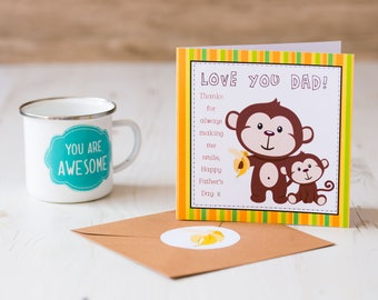 Father's Day Monkey Card