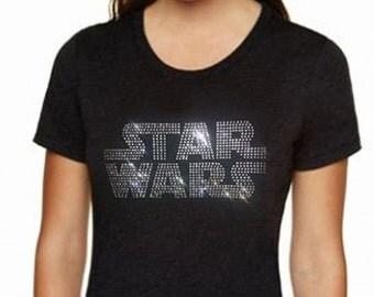 ELEGANT STAR WARS Bling / Rhinestone shirt. Free Shipping within the United States