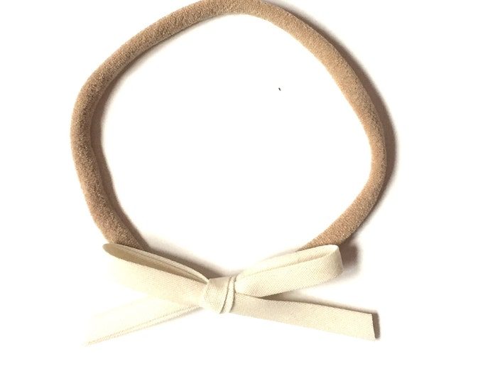Mini Retro headband || cream