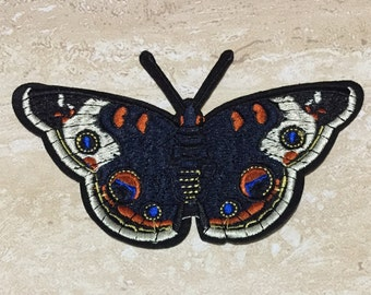 BLUE BUTTERFLY Embroidery Patch Iron On