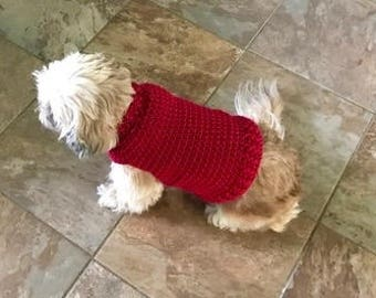 Maddie's Crochet Red Sweater