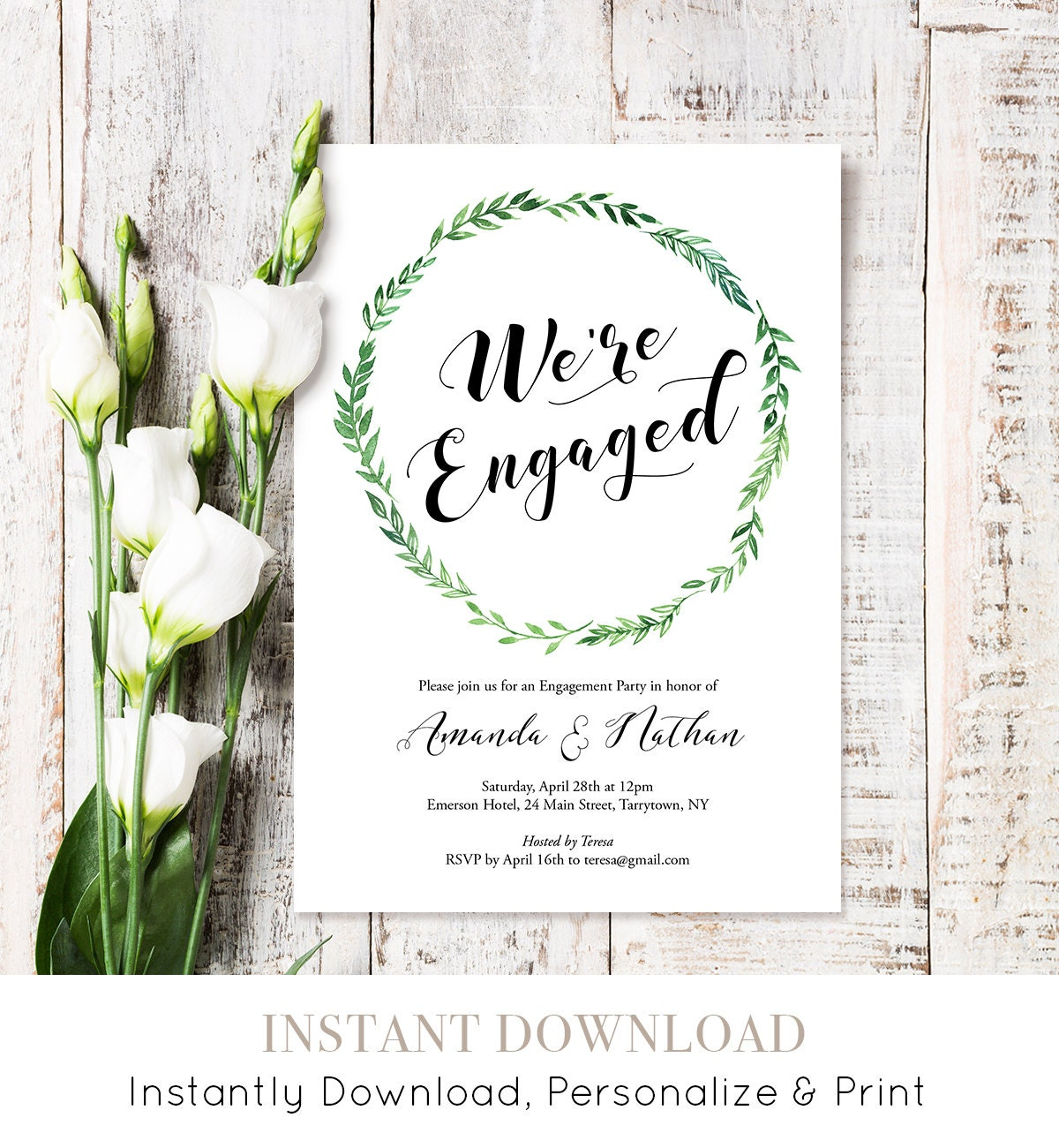Engagement Party Invitation Printable Engagement Announcement We – Engagement Party Template